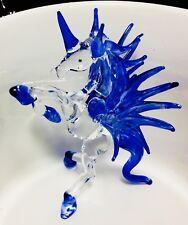 Alicorn Unicorn Pegasus Glass Figurine Fantasy Animal Craft Painting Collectible