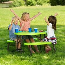 Lifetime Childrens Picnic Table, Steel Frame with All-Weather Finish, Folds Flat