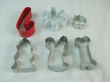 Cookie Biscuit Cutter Mold Apple Xmas Tree Cane Snowflake Squirrel Bone 6 pcs