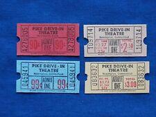 4 Vintage Pike Drive In Theatre Tickets Lot (Movie/Cinema) Newington, CT