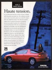 1993 MAZDA MX-3 Precidia Vintage Original Print AD - Red car photo woman french