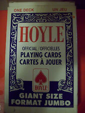 Vintage Hoyle Official Giant Size Playing Cards Plastic Coated