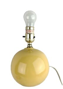 Small Porcelain Round Sphere Ball Table Lamp