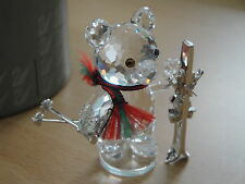 Swarovski Crystal Kris Bear With Skis Figurine
