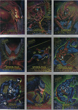 SPIDERMAN ULTRA 95 COMPLETE SET OF 9 MASTERPIECE CARDS