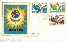 1976//ENVELOPPE SOIE**FDC 1°JOUR!!**U.N.E.S.C.O**SERIE DE 3 TIMBRES.Y/T 50/2