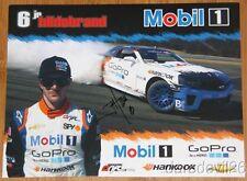 2013 JR Hildebrand signed Mobil 1 Chevy Camaro Seattle Formula Drift postcard