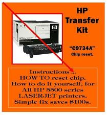 HP 5500 series Laserjet Printer TRANSFER Kit How to RESET dont replace C9734A