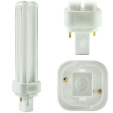 GE 26W PL Compact Fluorescent 2pin 2 tube 2700K CFL G24d-3 F26DBX/827/ECO 4 PACK