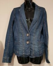 Ladies size 12 Blue Denim Jacket - Esprit