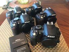 Lot Of 5 Nikon D3100 14.2MP Digital SLR Cameras Black (Bodies Only)