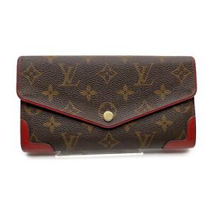 Louis Vuitton LV Wallet Portefeuille Sarah Retiro M61184 Browns Monogram 1520180
