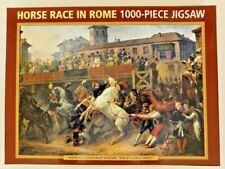 Horse Race In Rome by Vernet: 1000 Piece Jigsaw Puzzle, Complete