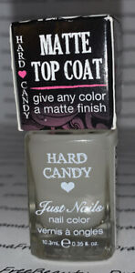 BN Hard Candy MATTE TOP COAT Just Nails Nail Polish Clear 324 *MATTE-LY IN LOVE*