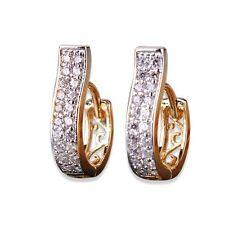 Elegant Dainty 18K GP Hoop Earrings Made With Micro Pave Cubic Zircon Jewellery