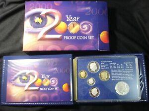 Australian 2000 Proof Coins Proof Set IN RAM Box 5 10 20 Colour 50 Cents $1 $2