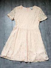 Forever 21 Women's Lace Dress(Cream,  US L/EUR L)