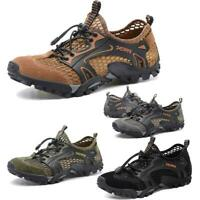 Men Trail Hiking Outdoor Sneaker Mesh Slip On Breathable Water River Sport Shoes
