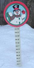 Frosty The Snowman Wooden Snow Gauge/Snow Measuring Stick