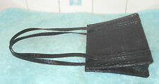 VintageLotus Croc Skin Effect Vegan Leather Grace Kelly Style Shoulder Handbag