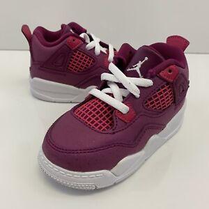 Nike Air Jordan 4 Retro 4 True Berry/Rush Pink-White BQ7672 661 Baby/Toddler