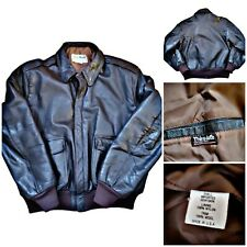 Vintage LL Bean A-2 Flying Tiger Goatskin Leather Jacket Size 44 Made in USA