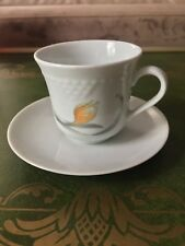 Vintage CP COLDITZ MADE IN GDR KAHLA Demitasse Cup & Saucer Orange Flower