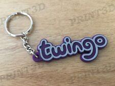 Porte clés / Keychain PVC souple Twingo monogramme logo coffre violet/purple