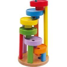 Pista per biglie colorata gioco/giocattolo in legno x bambini