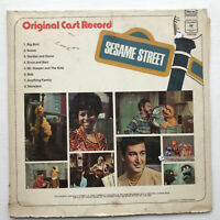 Original Cast Record Sesame Street LP Vinyl Record Original 1970