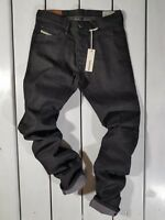 RRP $159 NEW DIESEL MEN'S JEANS TEPPHAR 0800W SLIM CARROT STRETCH BLACK