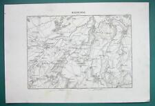 1846 MAP - BELGIUM Environs of Neerwinden Sint Truiden Tienen Jodoigne