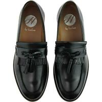 70% OFF RRP! H by Hudson Black Leather Tassel Loafer Mens Shoes,UK 12/EU 46