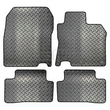 Tailored 4 Piece Rubber Car Mat Set 2 Clips FOR Nissan Qashqai 2014 - Onwards