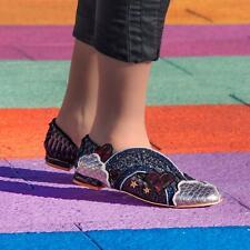 Irregular Choice 'Holiday Romance' (B) Black Slip On Flat / Low Heel Shoes
