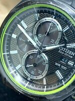 Citizen Men's Watch B612-S082846 Eco-Drive Black 41mm USED FOR REPAIR PARTS