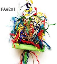 Fire Ball Shreddable bird parrot cage toy conure small cockatoo senegal macaw