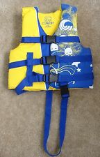 New Connelly yellow/blue flotation aid ski Vest,child 30-50lbs, type Iii Pfd