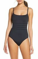 La Blanca Strappy Mio One Piece Swimsuit: Size 18W: Black (135)