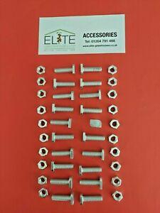 GENUINE Elite x 20 Greenhouse Aluminium 22mm Crop Head Bolts & Nuts - Rust Free