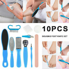 10PCS Callus Remover Foot File Pedicure Kit Set Tool Rasp Shaver Feet Nail Care