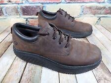 Skechers Work EH Shape Ups Walking Toning Athletic Shoes Brown Leather Men's 13