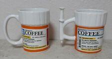 2 Prescription RX Pill Bottle Mug /Syringe  Coffee Cup  Pharmacy NEW !!