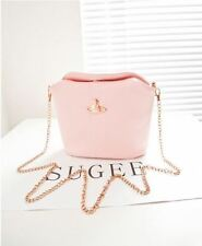 Candy Color Bucket Shoulder Bag (Pink)
