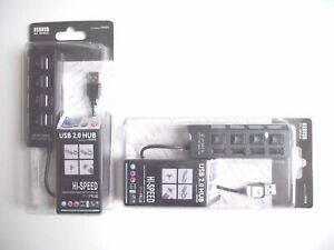 USB 2.0 Hub 4 Port - Each Port With On Off Switch x 2