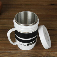 Camera Lens Mug Tea Coffee Cup Mug Stainless Steel Thermos Lined & Lid 180ml
