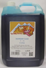 SLUSH SYRUP 4x5 LTR Blue Raspberry Slush Incd 200 Spoon Straws