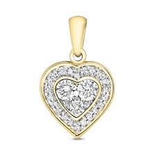 Collares y colgantes de joyería con diamantes I1, con amor y corazones
