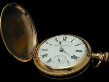 RARE ROCKFORD KING EDWARD SEARS 21 JEWELS PLYMOUTH WATCH COMPANY HUNTER POCKET