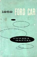 1959 Ford Owners Manual User Guide Reference Operator Book Fuses Fluids OEM